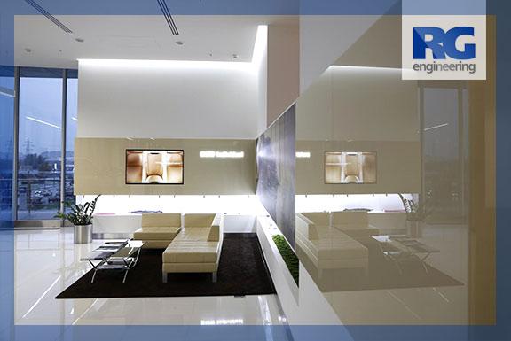 RGeng - оформление стен стеклом
